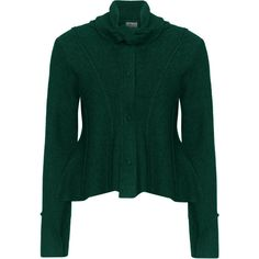 Heart Dark-Green Plus Size Felt wool cropped jacket ($57) ❤ liked on Polyvore featuring outerwear, jackets, long sleeve jacket, collar jacket, short cropped jacket, dark green jacket and short wool jacket