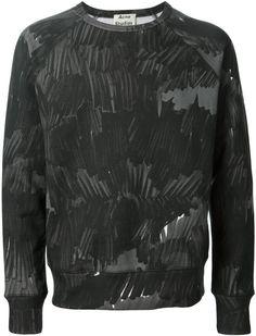 Acne College Marker Print Sweatshirt
