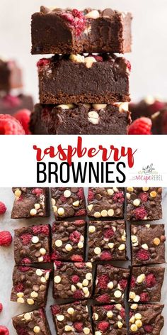 These Triple Chocolate Raspberry Brownies are ultra fudgy and loaded with white chocolate and dark chocolate chips plus fresh raspberries. They are the perfect summer treat with a scoop of ice cream! Fresh Raspberry Recipes, Raspberry Desserts, Cheesecake Desserts, Chocolate Raspberry Brownies, Easy Chocolate Desserts, Chocolate Recipes, White Chocolate, Dark Chocolate Chips, Dessert Bars