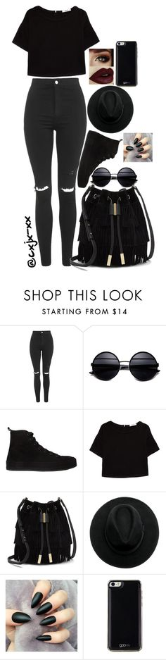 """""""Untitled #23"""" by cxjx-xx ❤ liked on Polyvore featuring Topshop, Ann Demeulemeester, MANGO, Vince Camuto and Gooey"""