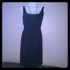 Tahari LBD size 4p Beautiful. Lined.. polyester rayon and spandex. Euc Tahari Dresses
