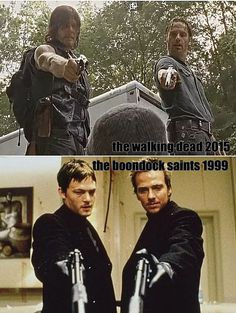 Norman Reedus and the parallels. The walking dead, the boondock saints,. daryl dixon. badass character. love him.