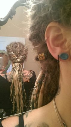 Twisted locs. Wanna do this when mine are a bit more established