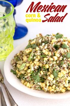 Mexican Corn and Quinoa Salad | Whats Gaby Cooking