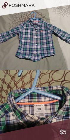 Boys Carter's Button Down Shirt. Size 18 Month Boys Carter's Button Down Shirt. Size 18 Month Carter's Shirts & Tops Button Down Shirts