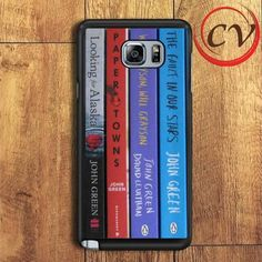John Green Bookshelf Collage Samsung Galaxy Note 6 Case
