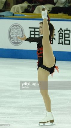 Shizuka Arakawa World Figure Skating Champion) during women's singles at Japan International Challenge figure skating cup competition. (Photo by Jun Sato/WireImage) Ice Skating, Figure Skating, Shizuka Arakawa, Nba Cheerleaders, Pinup Photoshoot, Psoas Release, Female Gymnast, Gymnastics Girls, Gymnastics Leotards