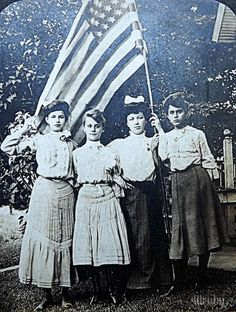 My grandmother and her cousins celebrating the of July.