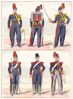 French; Artillery, 1850 from Hector Large's Le Costume Militaire Vol III