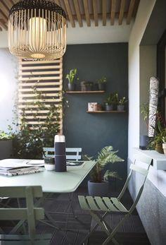 Salons et meubles de balcon: notre shopping malin - Marie Claire Oasis, Balcony, Terrace, Sweet Home, Leroy Merlin, Interior Design, Outdoor Decor, Furniture, Home Decor