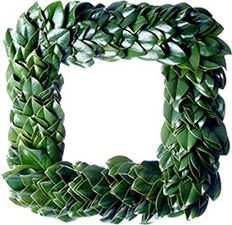 Magnolia Wreath Square - for the contemporary Christmas lover