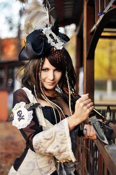 Steampunk airship pirate, cosplay by AnimA89.deviantart.com on @deviantART