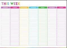 Free Printable Weekly Calendar Template