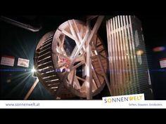 Interaktive und multimediale Erlebnisausstellung. In der SONNENWELT dreht sich alles um Mensch & Energie. Geschichte erleben. Zukunft gestalten. Ferris Wheel, Fair Grounds, Road Trip Destinations, Future, Sun, History, World, Big Wheel