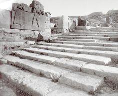 Hittite, stairs in the castle entrance, Kargamış, (Kurt Bittel) (Erdinç Bakla archive)