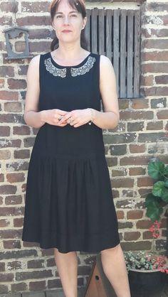 Cette année, j'ai participé au « Me made may Black, Dresses, Fashion, Dress Black, Dress Ideas, Fashion Ideas, Gowns, Moda, Black People