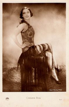 20s silent film star-Italian actress Carmen Boni  #1920sfashion #flappers #1920sactress