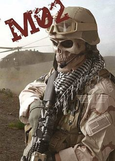 New tactical military skeleton whole face mask hunting grey