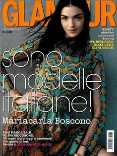 Maria Carla Boscono for GLAMOUR ITALY, february 2014