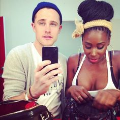 """afrocentricmiss: """" ebonitaapplebum: """" simplyunattainable: """" Sidenote- Lordy be she's built Ford Tough for real. They make a cute couple and I love her headband. """" Yes ma'am Bria Myles! Interacial Love, Interacial Couples, Black Woman White Man, Black Love, White Boys, Black Girls, Mixed Couples, Couples In Love, Bria Myles"""