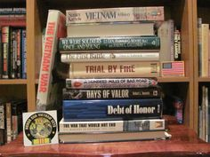 """""""The Vietnam War"""" - We were soldiers once and young / The first battle / Trial by fire / 100 miles of bad road / Days of valor / Debt of honor / The war that would not end #butlerbookspine"""