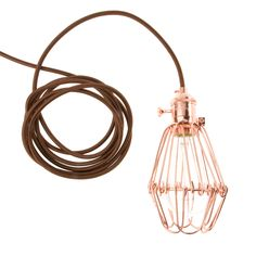 Rose Keyed Socket paired with Bronze Shine electrical cord from Color Cord Company