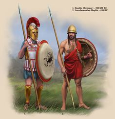 Classical Greek Hoplites by RobbieMcSweeney on DeviantArt Greek History, Roman History, Ancient History, History Pics, Fantasy City, Fantasy Warrior, Greco Persian Wars, Greek Soldier, Costumes