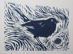Blackberry Way is an original Linocut print measuring approx. Each is individually printed with a hand press, on cream Somerset Linocut Prints, Art Prints, Lino Art, Linoleum Block Printing, Linoprint, Chalk Pastels, Wood Engraving, Tampons, Illustrations And Posters