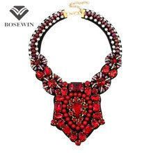 Luxury Accessories Women Handmade Crystal Necklace Indian Style Bead Neck Bib Collar Chokers Necklaces Maxi Statement Jewelry