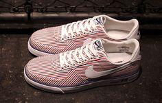 "Nike Air Force 1 AC ""Red, Blue & White Stripes"" - EU Kicks: Sneaker ..."
