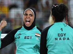 Bermain Voli Pantai Pakai Hijab, Doaa Cetak Sejarah di Olimpiade 2016