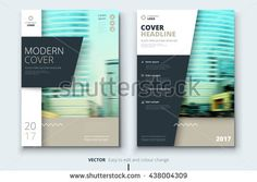 Cover design for Annual Report, Catalog or Magazine, Book or Brochure, Booklet or flyer. Layout template in A4 with triangular elements. Creative concept in bright colors. Vector Illustration
