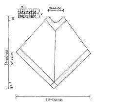 """Moondance - Gebreide DROPS Poncho met gehaakte bloemen en franjes van """"Ull-Bouclé"""". Maat S - XL - Free pattern by DROPS Design"""