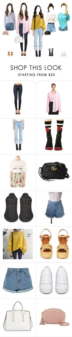 """""""Arriving the music show"""" by promise-official ❤ liked on Polyvore featuring Vetements, Alexander McQueen, Stance, Gucci, adidas Originals, Yves Saint Laurent, Boohoo, French Connection and MICHAEL Michael Kors"""