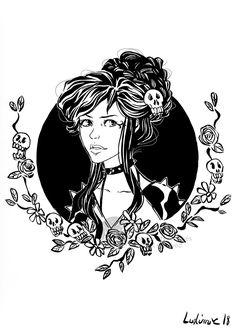 The grumpy girl by Ludimie.deviantart.com on @DeviantArt
