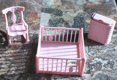 Vintage Renwal doll house furniture baby room set by NX211 on Etsy, $15.00