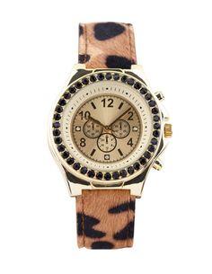 SuiteBlanco- Reloj pulsera animal print