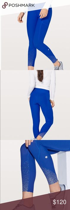 """468329d02505c Lululemon Tight Stuff Tight II 25"""" These amazing Lululemon tights are a  royal blue color"""