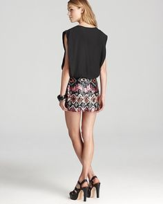Parker Combo Dress - with Sequin Skirt   Bloomingdale's