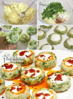 Yoğurtlu Patates Mantısı Tarifi