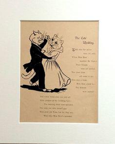 Cats' Wedding 1901 Louis Wain Cat print