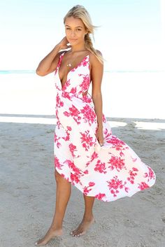 Red Indigo Maxi Dress | SABO SKIRT
