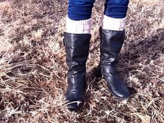I think boot toppers/cuffs are pretty darn cute. They close the gap between the top of your boot and your pants that are tucked in (or legg...