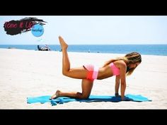 Tone it up: Lift & Tone Booty Routine Tone It Up, Fun Workouts, At Home Workouts, Youtube Workout, Sup Yoga, Butt Workout, Free Workout, Workout Exercises, Pilates Workout