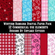 Western Bandana Digital Paper Pack review at Kaboodle