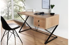Natural Home Office Desk With Drawers Modular Furniture, Furniture Market, Furniture For You, Modern Furniture, Home Furniture, Furniture Design, Bureau Design, Intelligent Design, Industrial Home Offices
