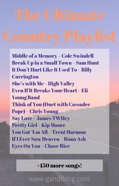 The ULTIMATE Country Playlist - - Are you a country music lover like me? Keep reading to find my ultimate country playlist of 163 country songs that you NEED to hear! Fun Songs, Mood Songs, Music Songs, Music Quotes, Tune Music, Party Songs, Song Quotes, Rock Music, Country Songs List