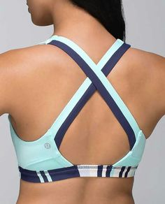 Lululemon Run: Stuff Your Bra II $52.00 Groovy Stripe Cadet…