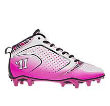 Burn Speed 5.0 Mid Special Edition Cleat, Pink with White