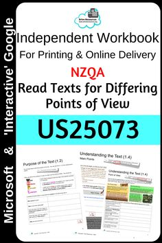 Designed for Unit Standard 25073 (NZ NZQA) this is  editable so you can add your own assessment criteria or tweak to suit your needs.  Students read 3 texts to establish topic, main ideas, key words/phrases, point of view and purpose.  Begins with a practice activity.  Microsoft (editable) plus interactive Google formats to avoid students destroying format (they insert text boxes in spaces provided).  Includes teacher answer key.  Also great for struggling high school readers or ESOL… Teaching English, Learn English, Literacy Strategies, Insert Text, Guided Practice, Student Reading, Point Of View, Home Schooling, Learning Activities